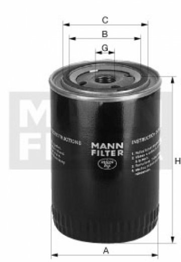 Масляный фильтр MANN W 930/7 - фото 1