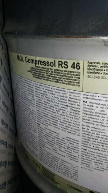 Масло MOL Compressol RS46 (50л) - фото 1